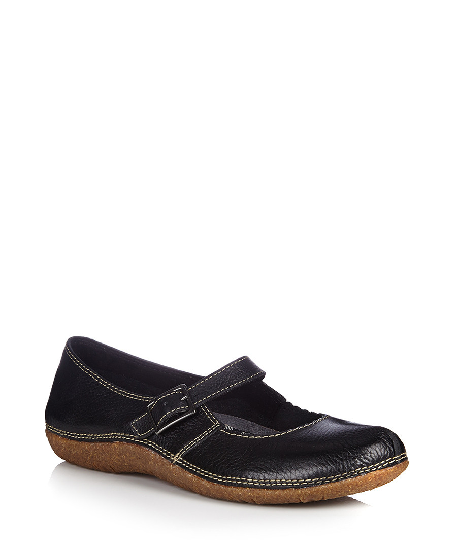 Hush Puppies Leather Flat Mary Jane Shoes On Sale
