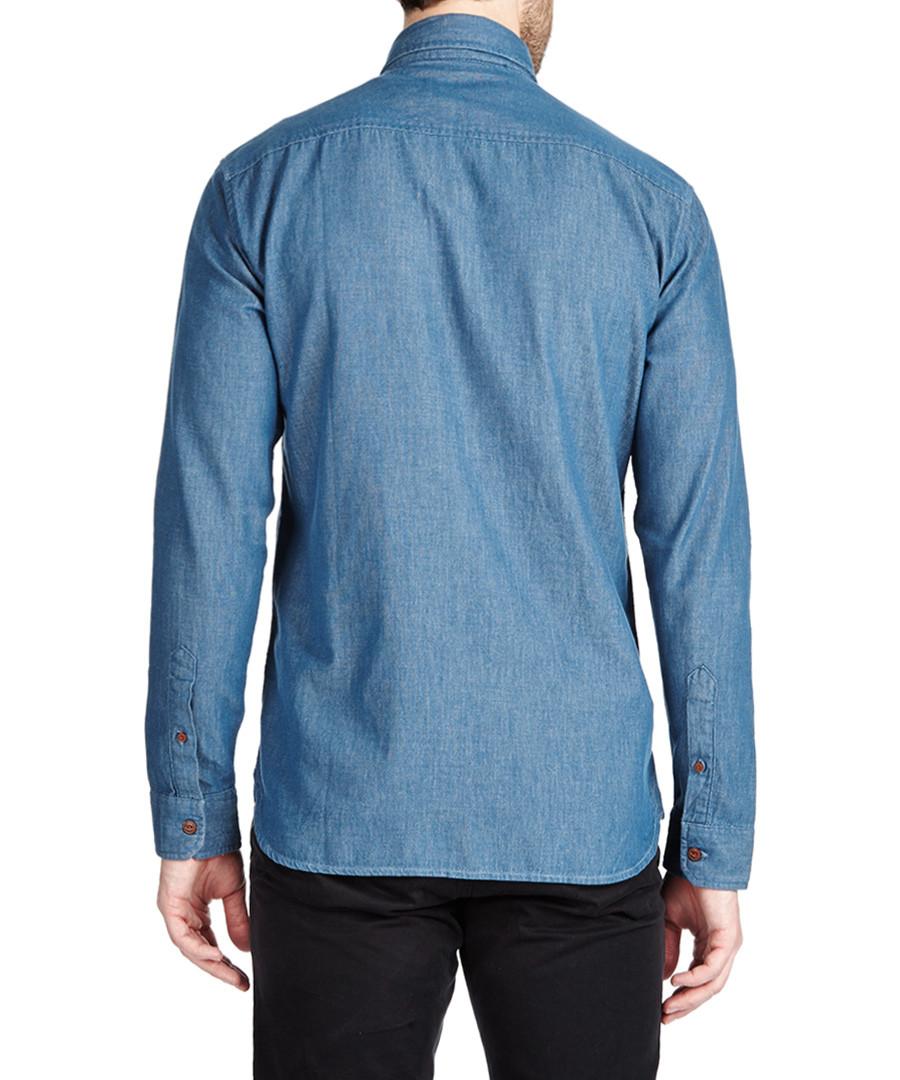 Jack Jones Blue Pure Cotton Button Up Shirt Designer