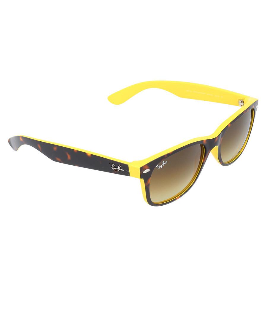 Ray-Ban Havana & yellow Wayfarer sunglasses, Designer ...