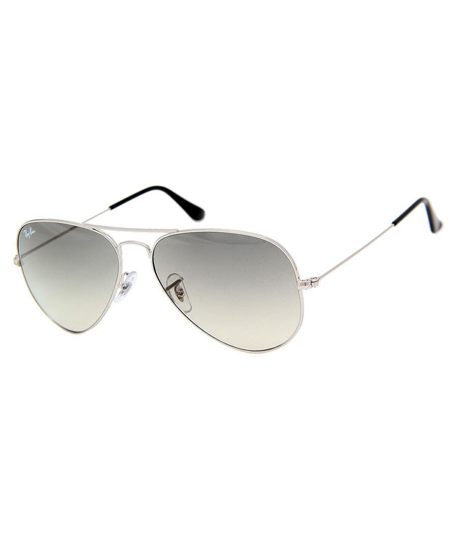 Ray Ban Silver Frame Glasses : Ray-Ban Aviator silver frame sunglasses, Designer ...