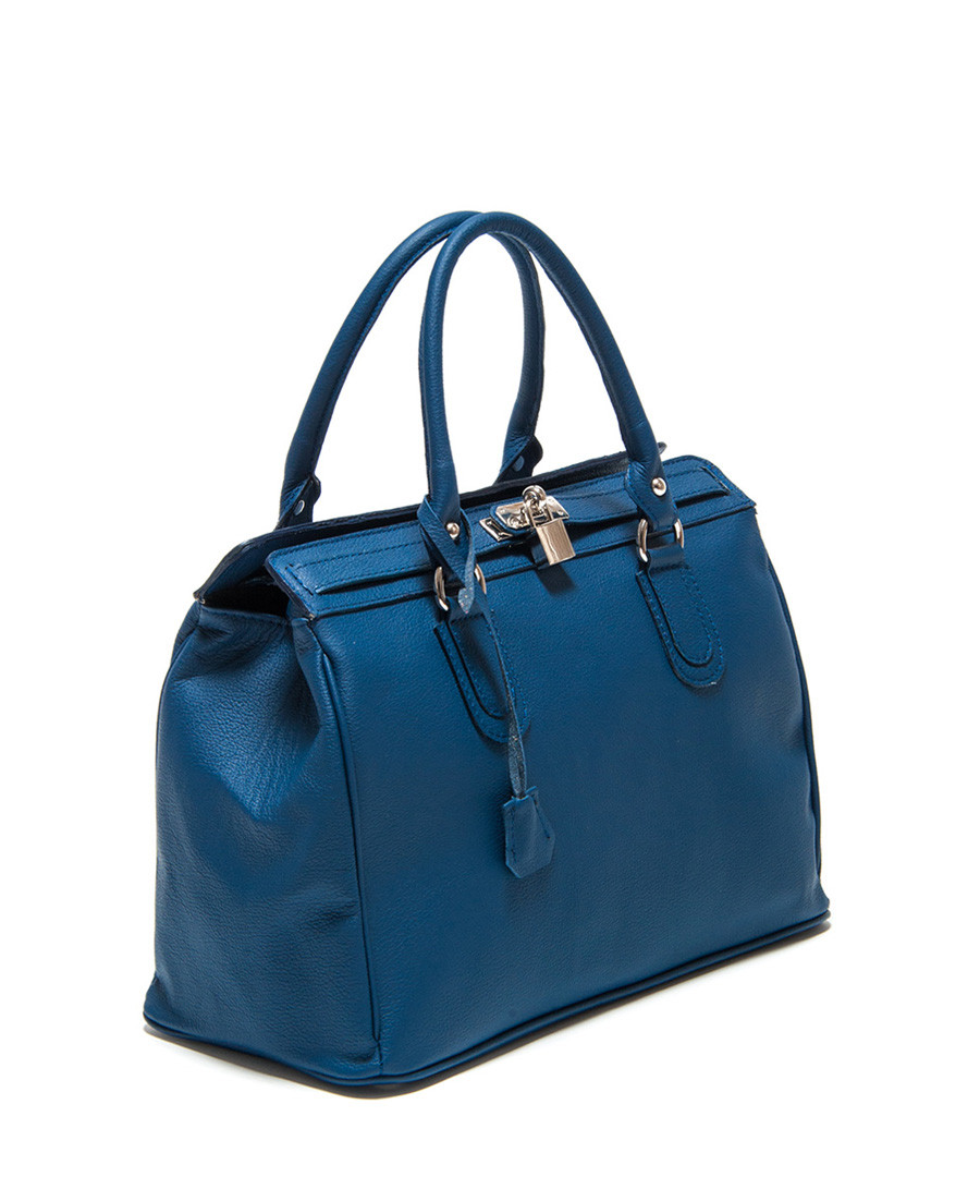 Blue leather tote bag Sale - Roberta M. Sale