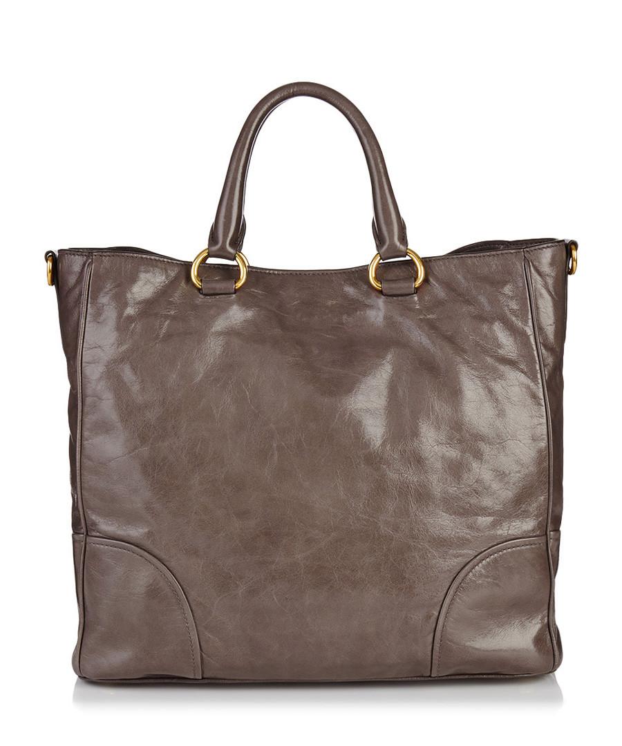 fd0ff12860 900 x 1080 secretsales.com. Prada Grey leather tote ...