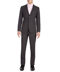 Anthracite grey wool suit
