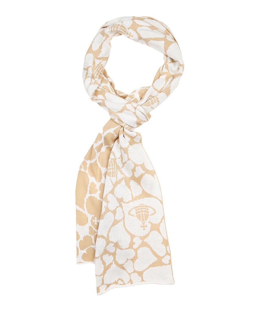vivienne westwood beige scarf designer accessories