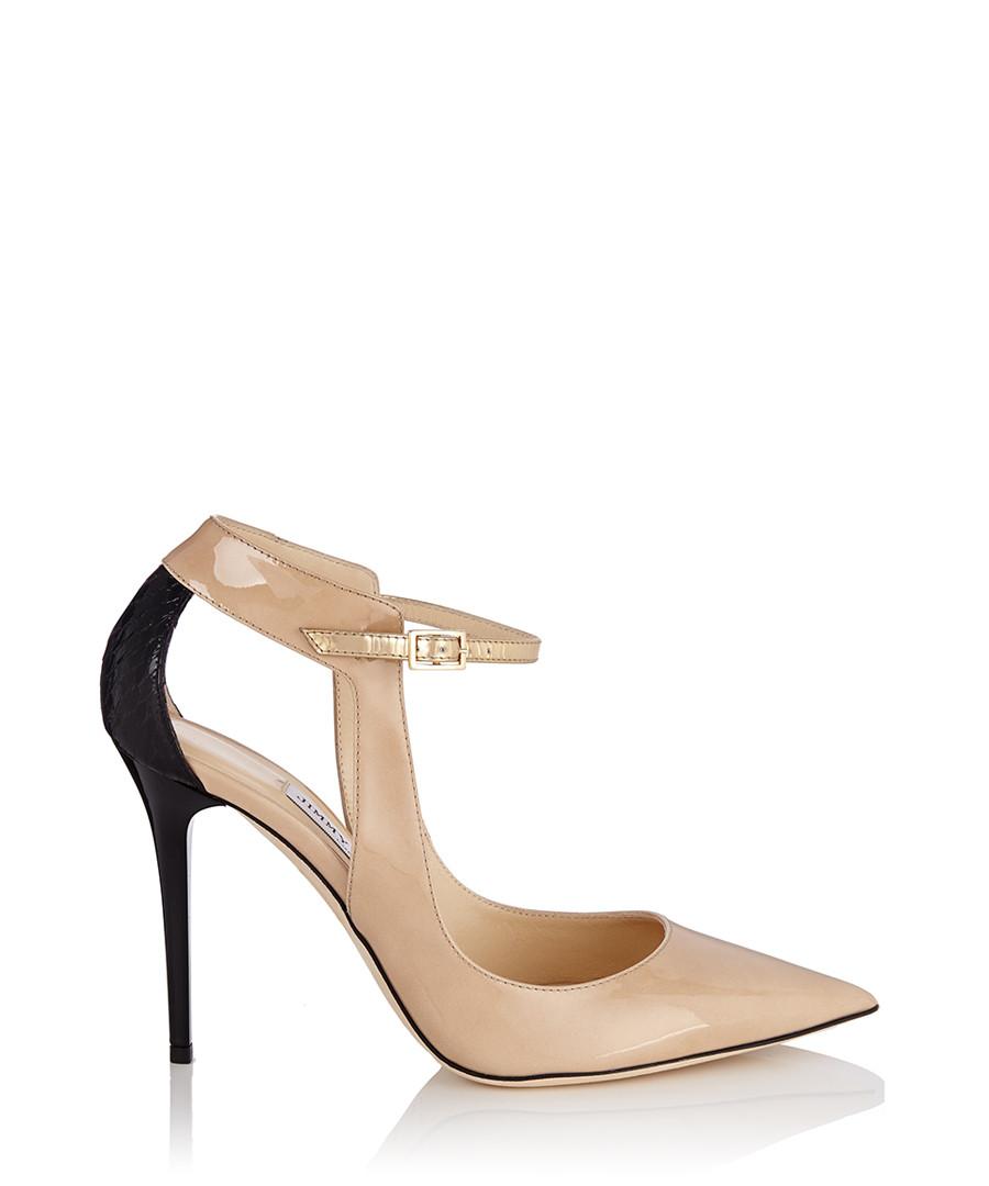 Nude croc print pointed leather heels Sale - Jimmy Choo