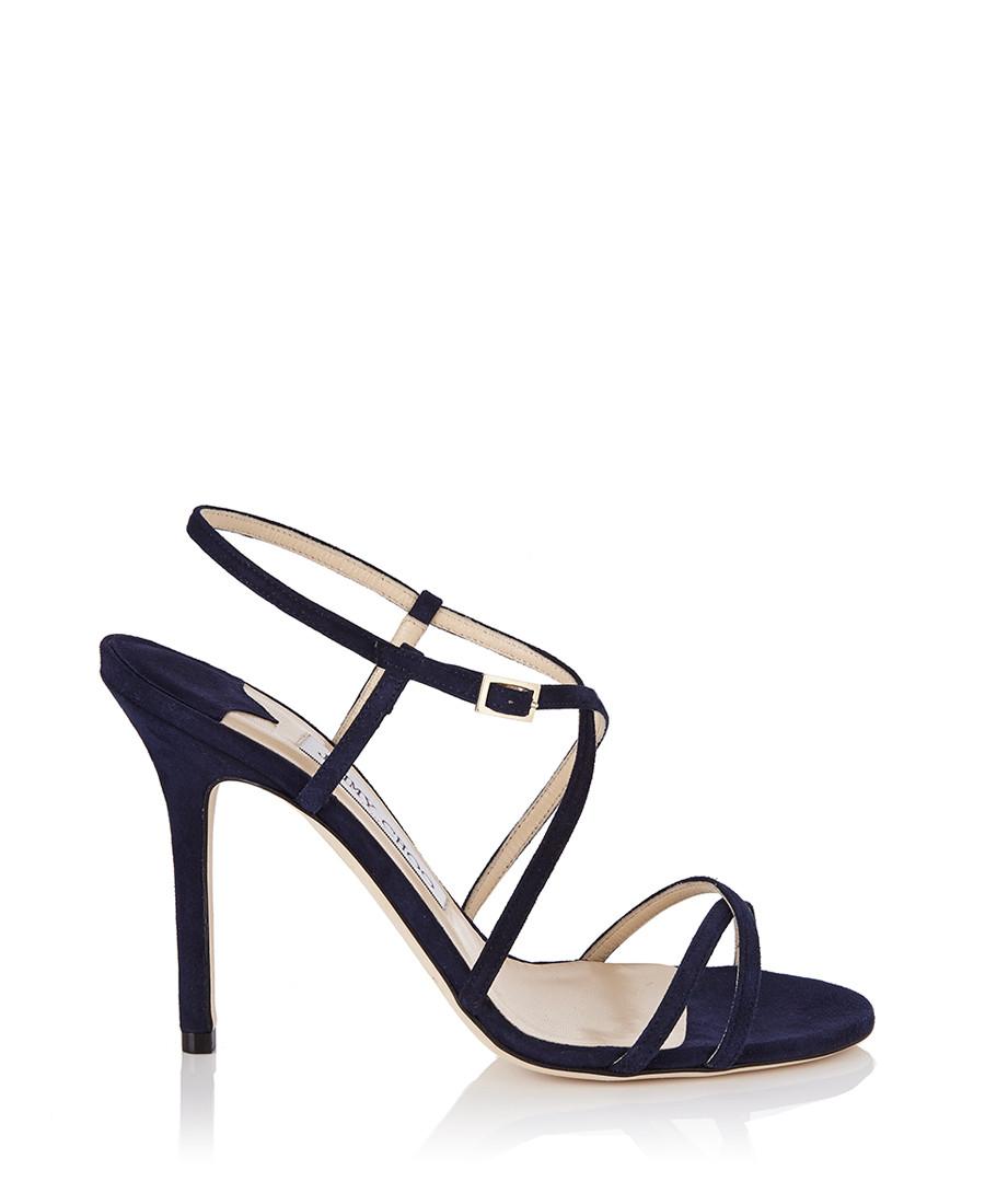 Jimmy Choo Women's Issey navy suede strappy heels ...