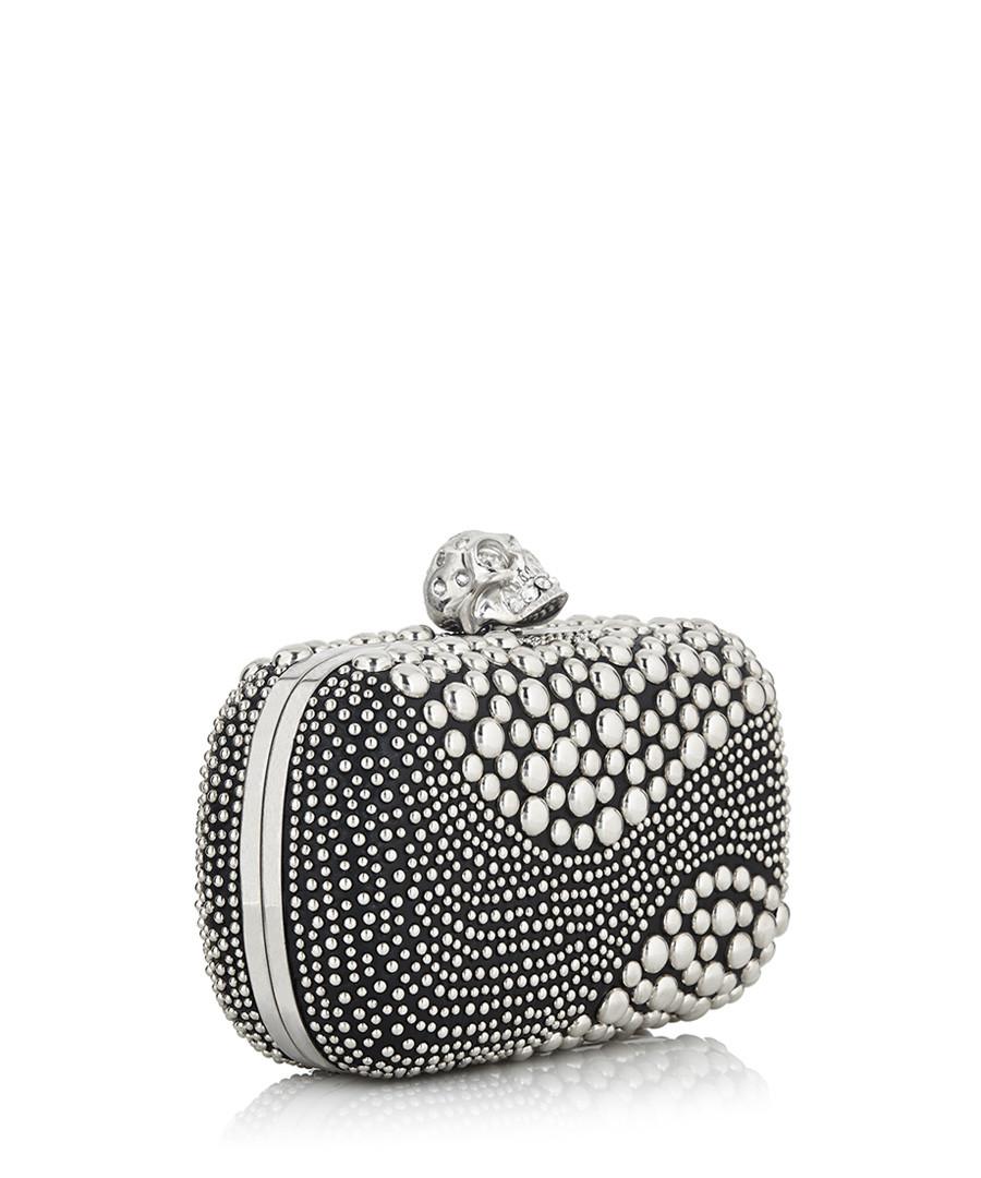 alexander mcqueen black silver tone studded clutch designer bags sale alexander mcqueen womens. Black Bedroom Furniture Sets. Home Design Ideas
