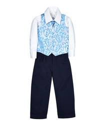2 10yrs blue page boy suit
