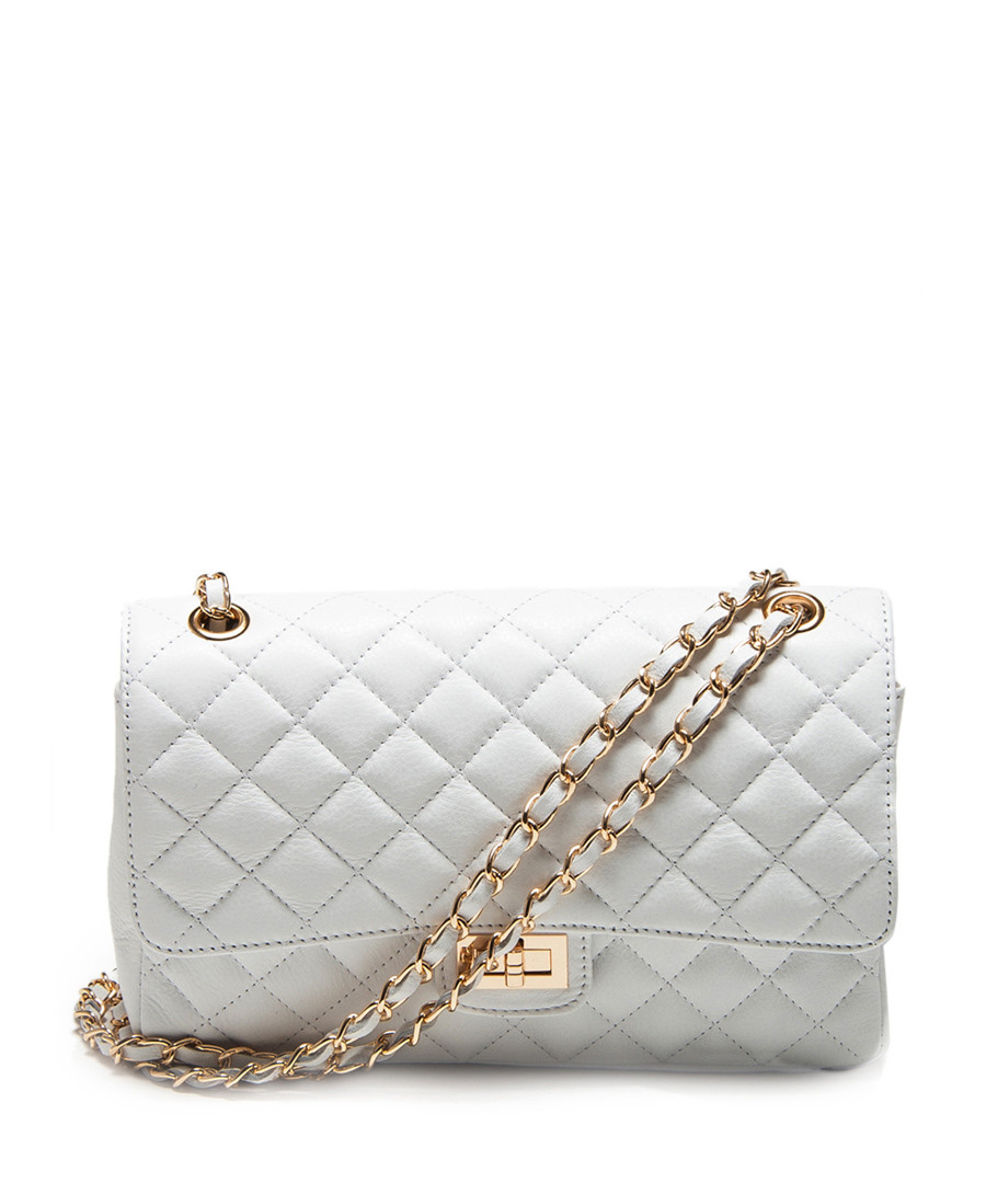 White Quilted Shoulder Bag 111