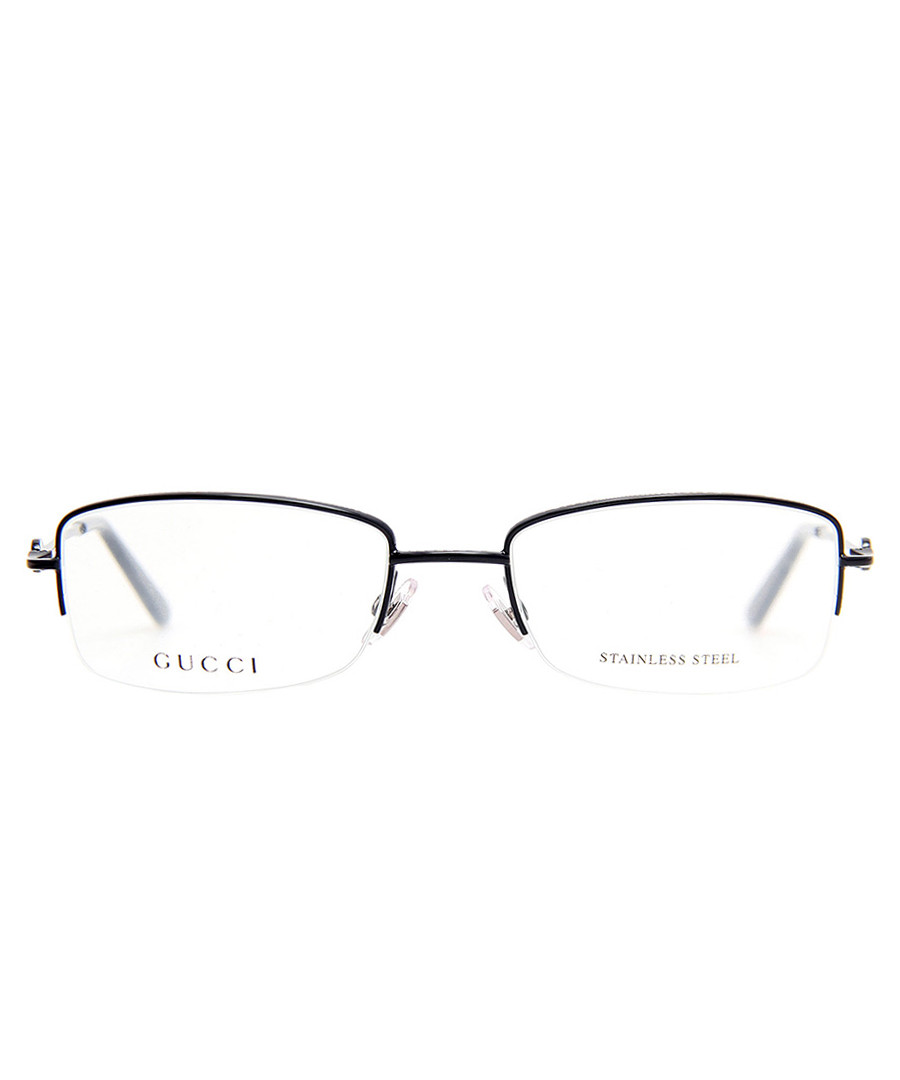 Gucci Glasses Half Frame : Gucci Dark blue half-frame metal glasses, Designer ...