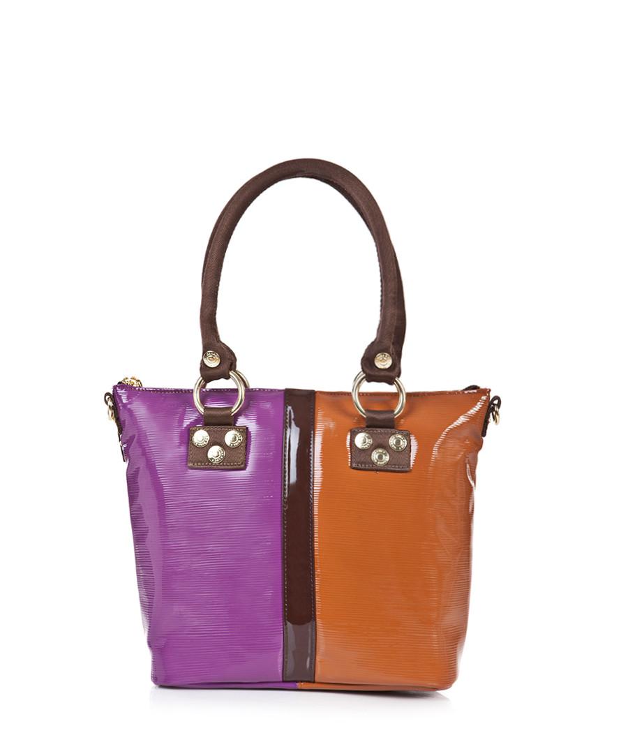 george gina lucy pink patent tote bag designer bags sale outlet secretsales. Black Bedroom Furniture Sets. Home Design Ideas