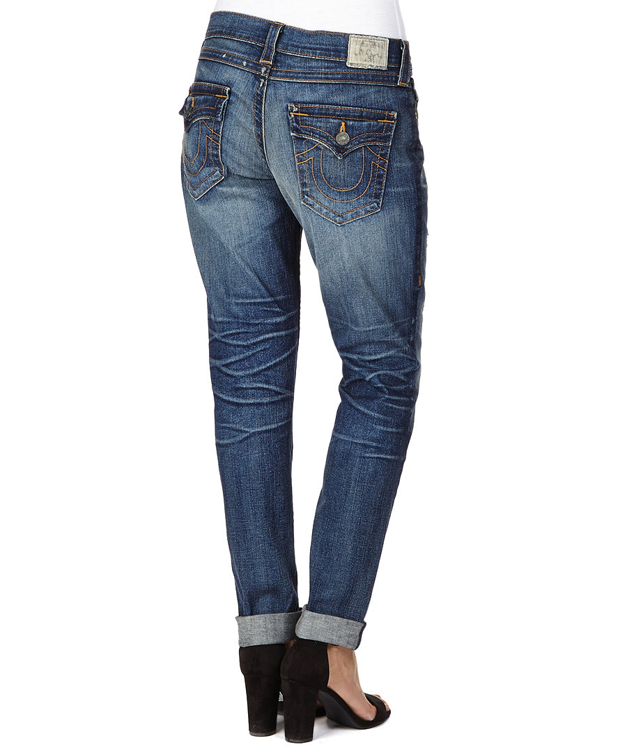True Religion Cameron cotton blend boyfriend jeans ...