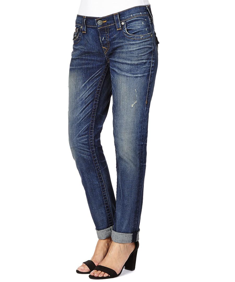 true religion cameron cotton blend boyfriend jeans. Black Bedroom Furniture Sets. Home Design Ideas