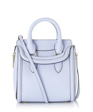 Light blue leather grab bag Sale - Alexander McQueen Sale