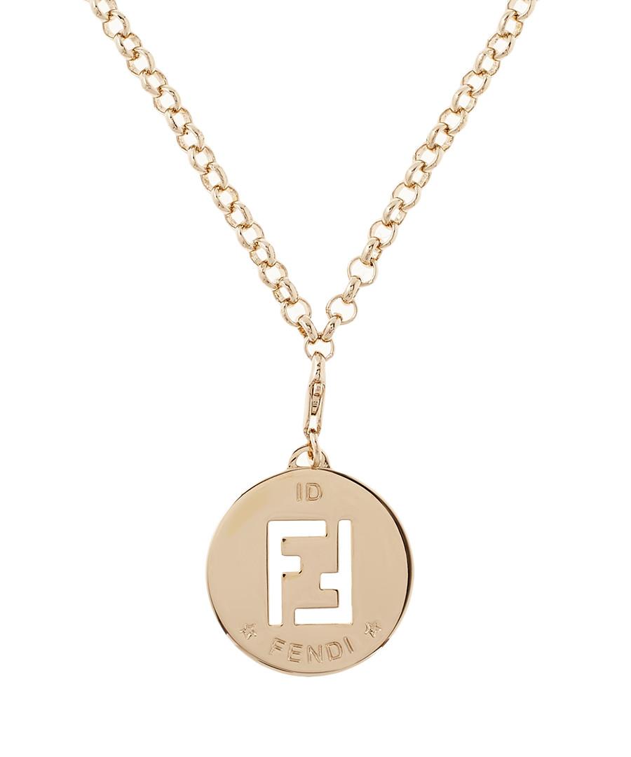 fendi 46cm gold tone cut out ff necklace designer bags