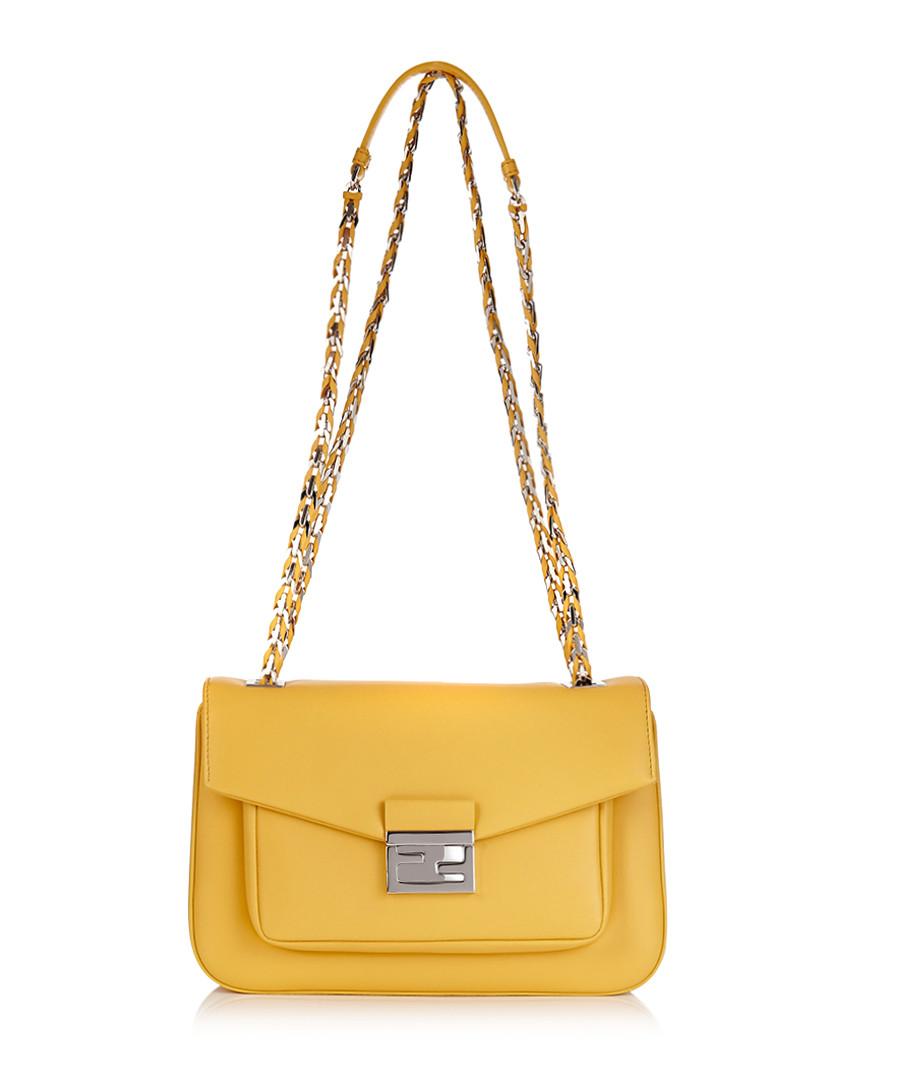 Be Baguette yellow leather shoulder bag Sale - Fendi