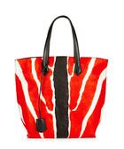 All In red zebra print shopper