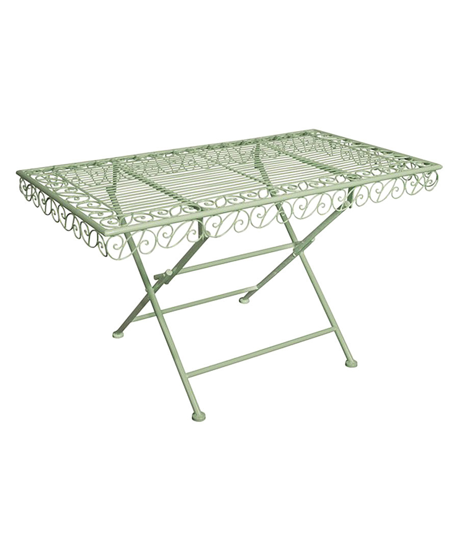 Floating Square Coffee Table In Green And Black Slatelike: Old Rectory Green Mild Steel Coffee Table, Designer Garden