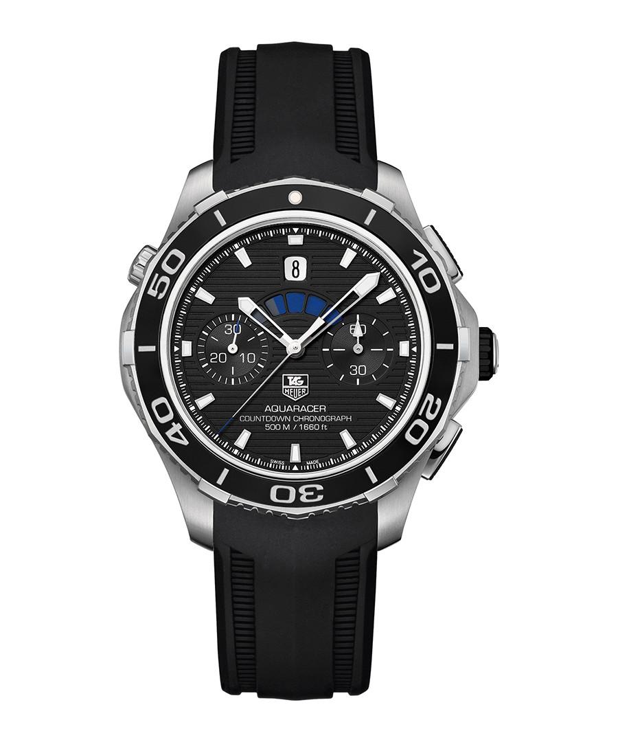 Tag heuer aquaracer black bezel watch designer accessories sale tag heuer watches secretsales for Black bezel watches
