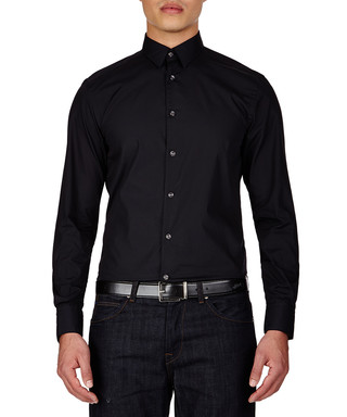 Discount Designer Clothes Uk black cotton shirt Sale
