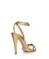 Abrianna gold leather heeled sandals Sale - Ralph Lauren Collection Sale