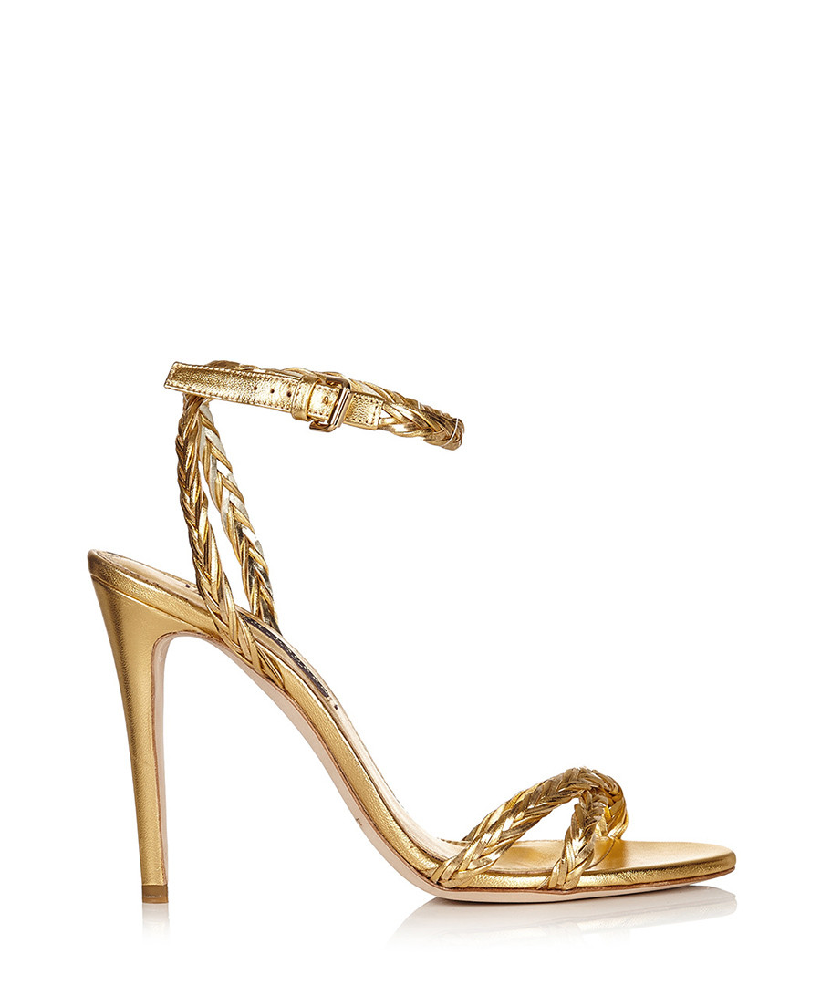Abrianna gold leather heeled sandals Sale - Ralph Lauren Collection