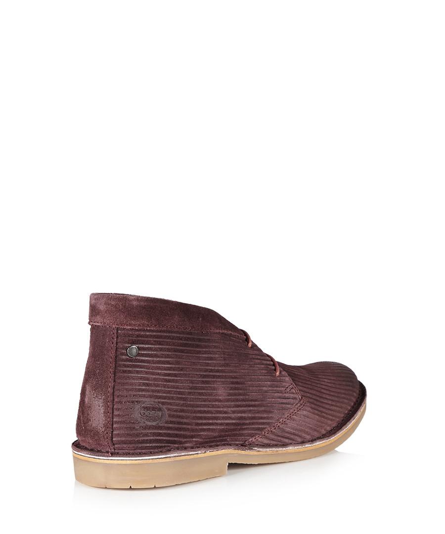 base burgundy suede desert boots designer footwear