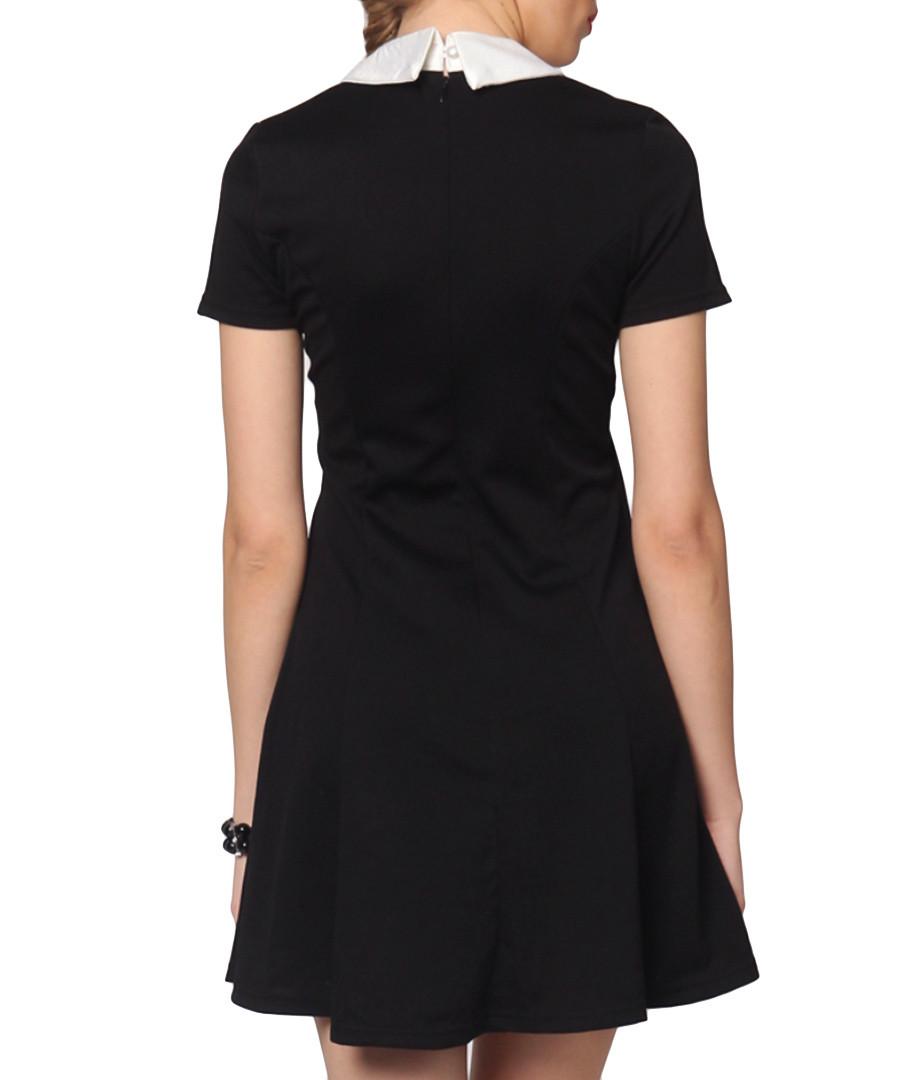 Euforia black amp white collar skater dress designer dresses sale