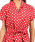 Red polka dot pure cotton shirt dress Sale - Kushi Sale