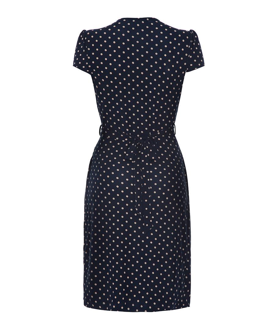 yumi navy polka dot belted dress designer dresses sale