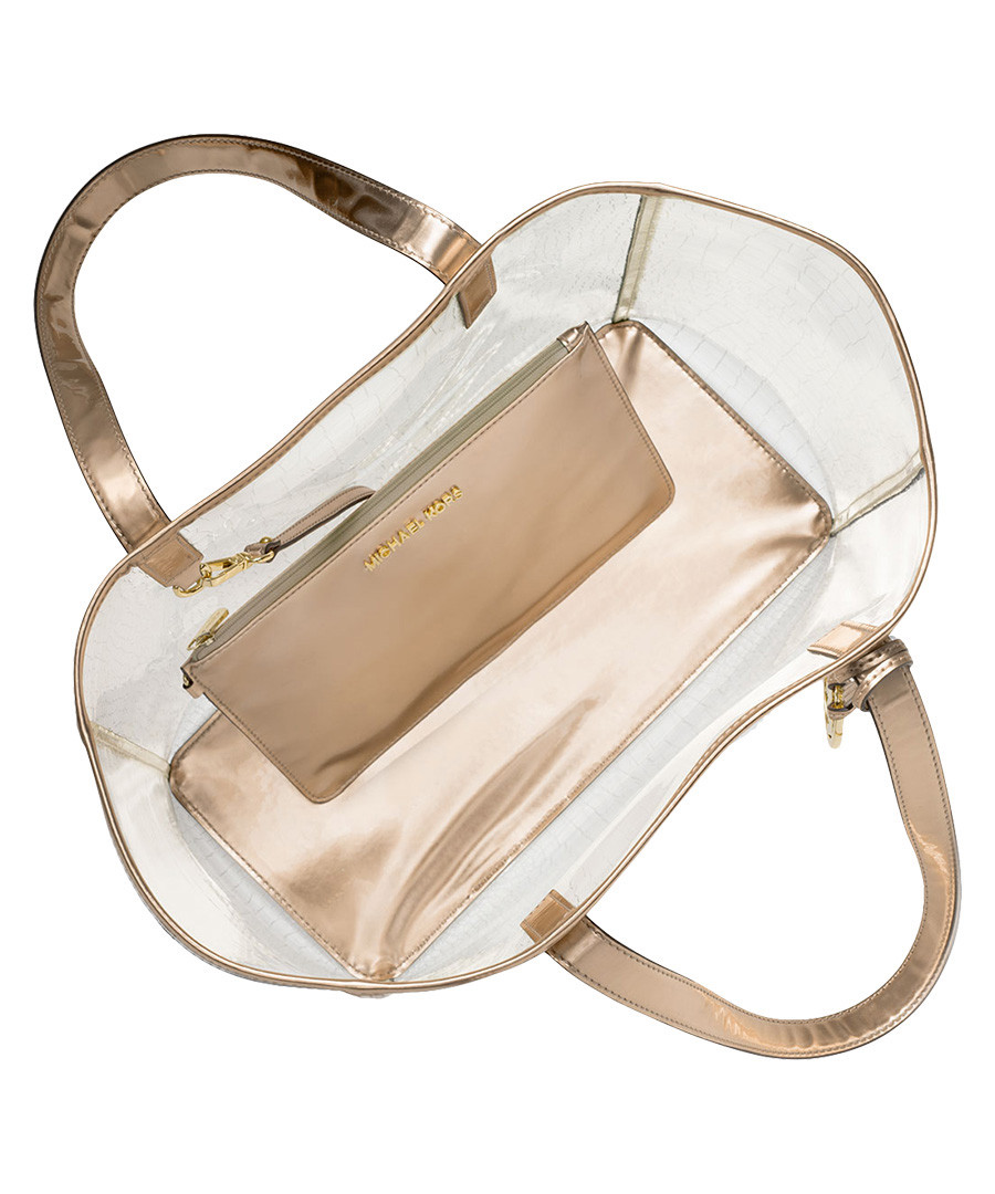 Michael Kors Nora large clear & pale gold tote, Designer ...