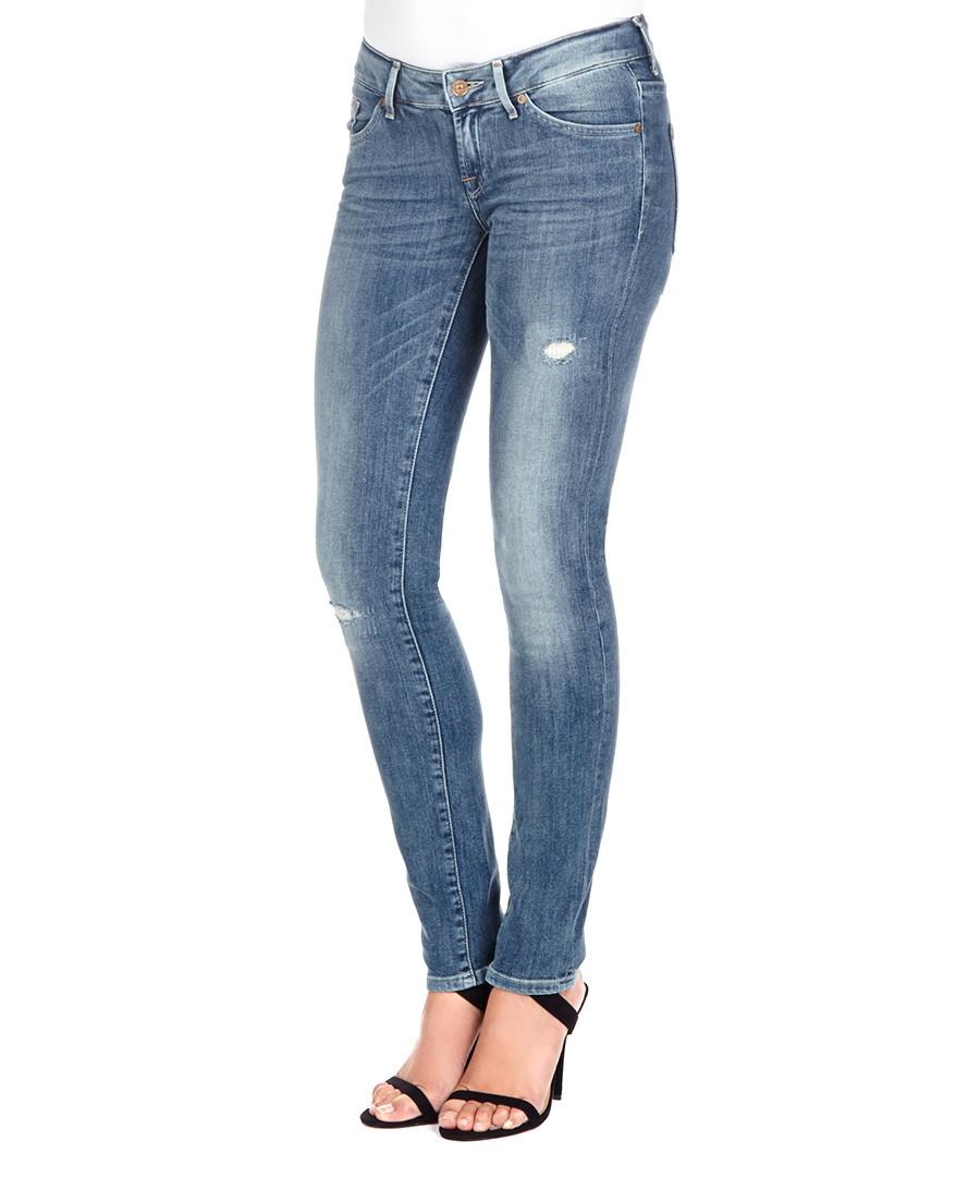 cristen cotton blend faded skinny jeans sale 7 for all. Black Bedroom Furniture Sets. Home Design Ideas