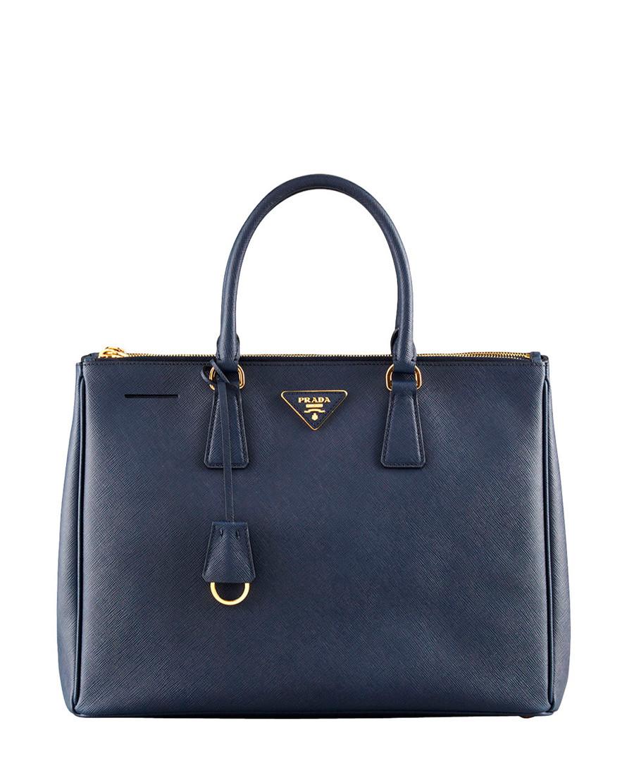 Home Prada Handbags Navy saffiano leather tote