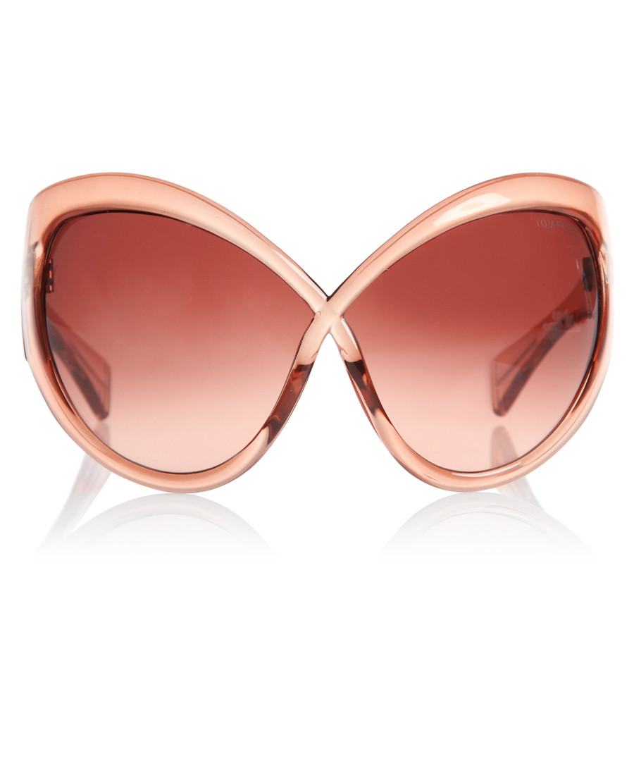 TOM FORD Daphne transparent pink sunglasses, Designer ...