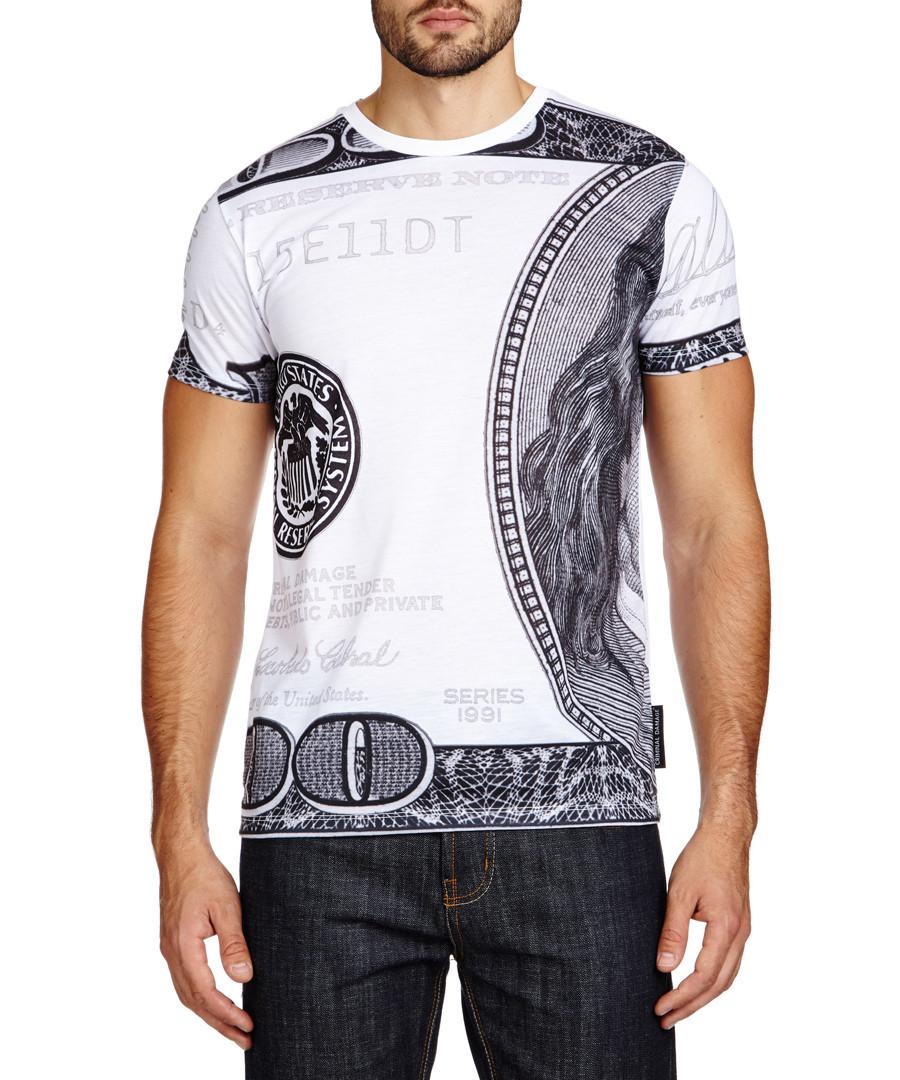 criminal damage white 39 100 note 39 short sleeved t shirt designer topwear sale criminal damage. Black Bedroom Furniture Sets. Home Design Ideas