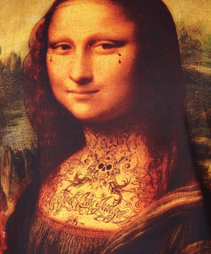Criminal damage black cotton blend mona lisa t shirt for Can you buy the mona lisa