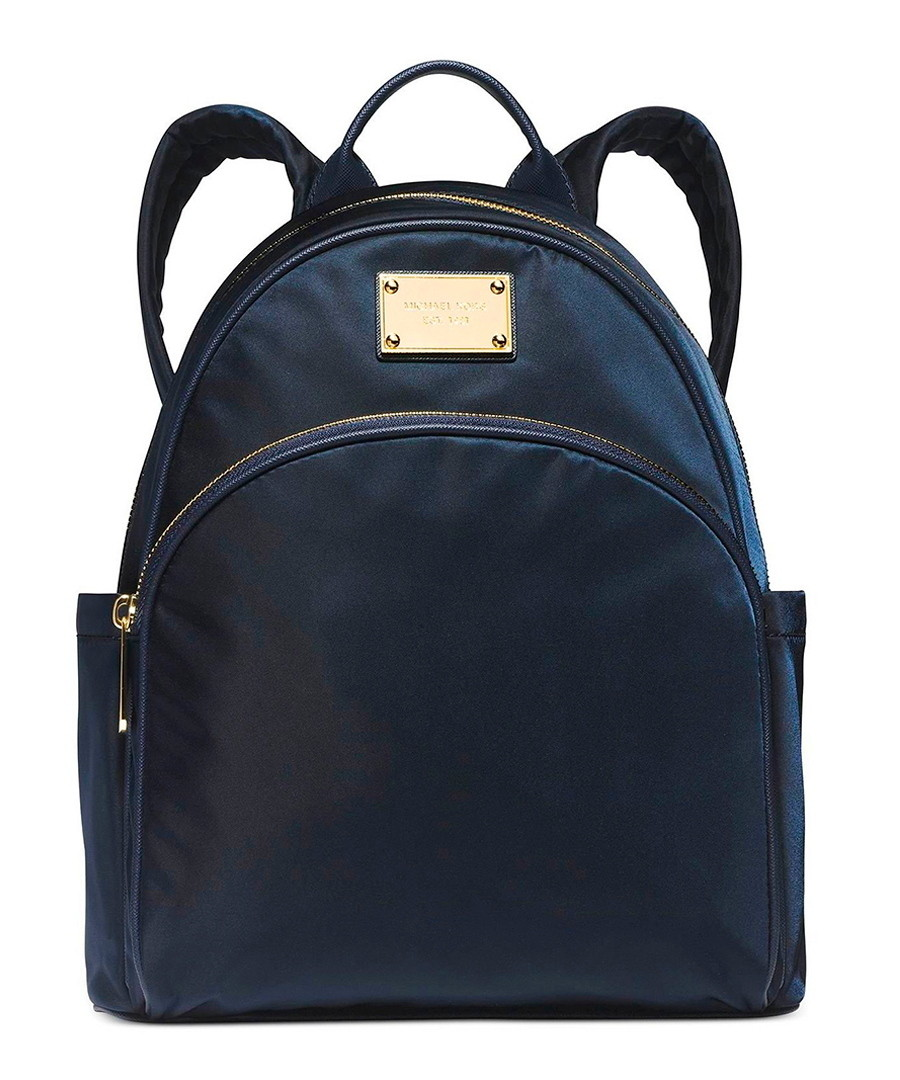 michael kors small navy nylon backpack designer. Black Bedroom Furniture Sets. Home Design Ideas