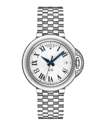 Silver tone diamond embellished watch