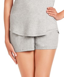 Buttercup Glow grey pyjama shorts