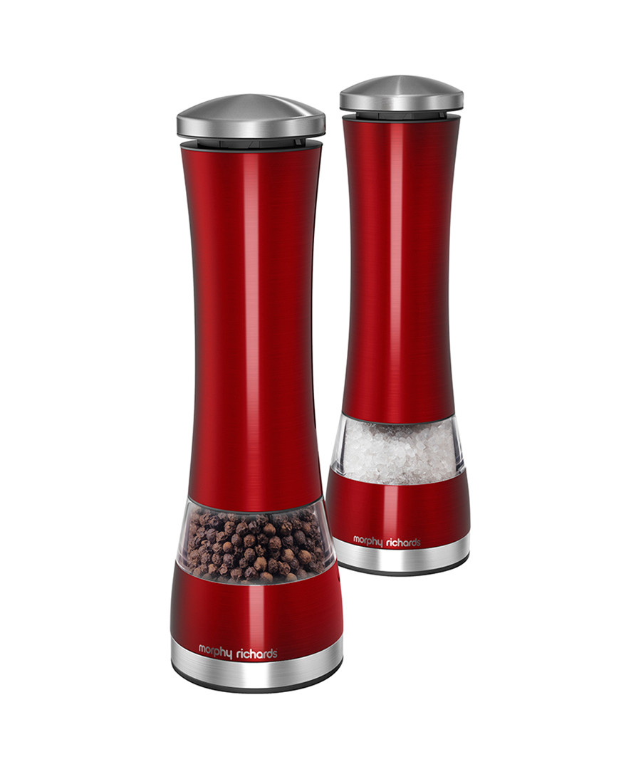 Morphy Richards Red Electronic Salt Pepper Mill