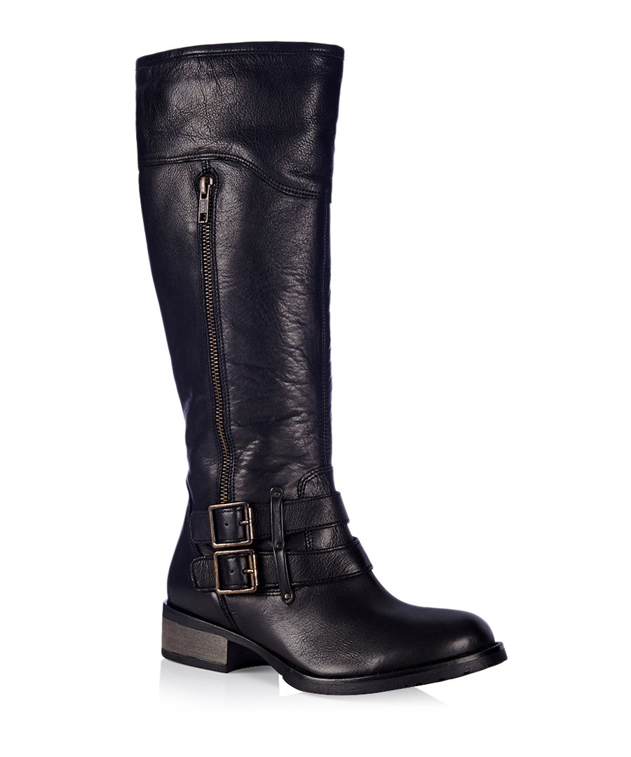 carvela kurt geiger peyton black leather knee high boots