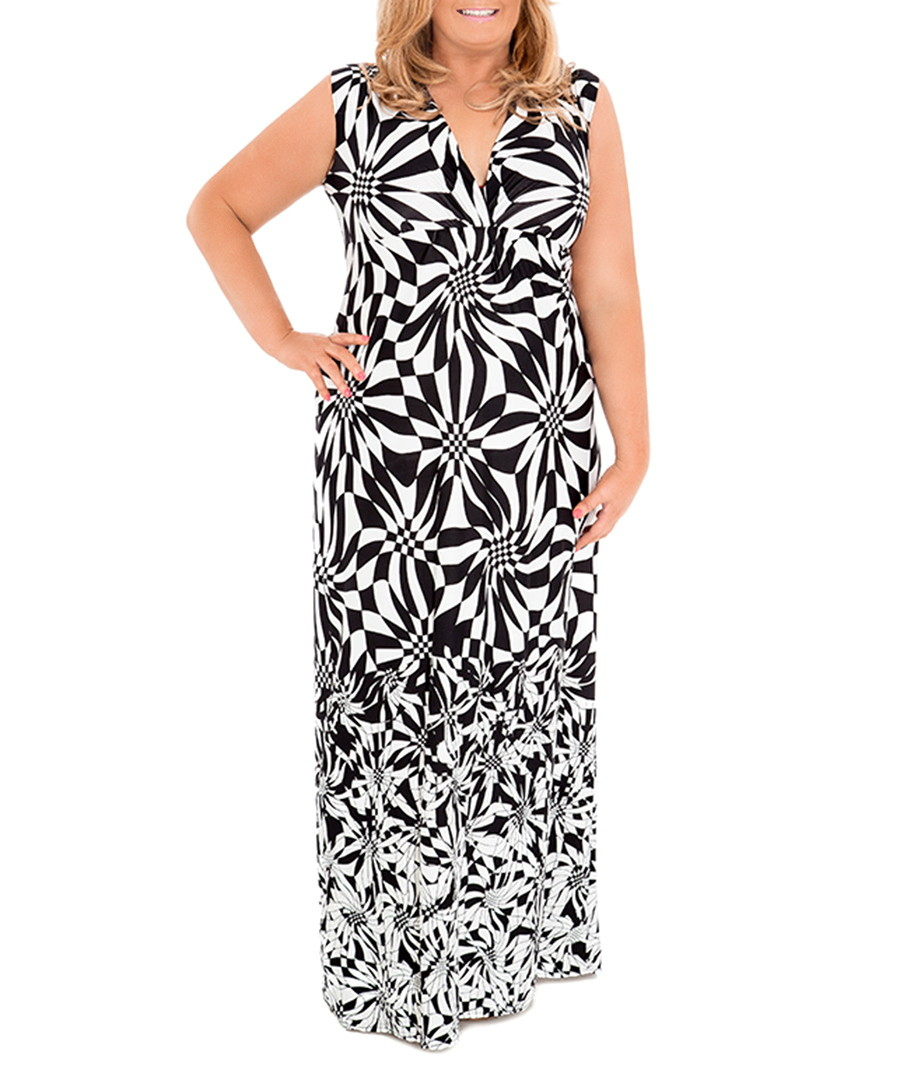 GEMMA COLLINS Norway Monochrome Printed Dress, Designer