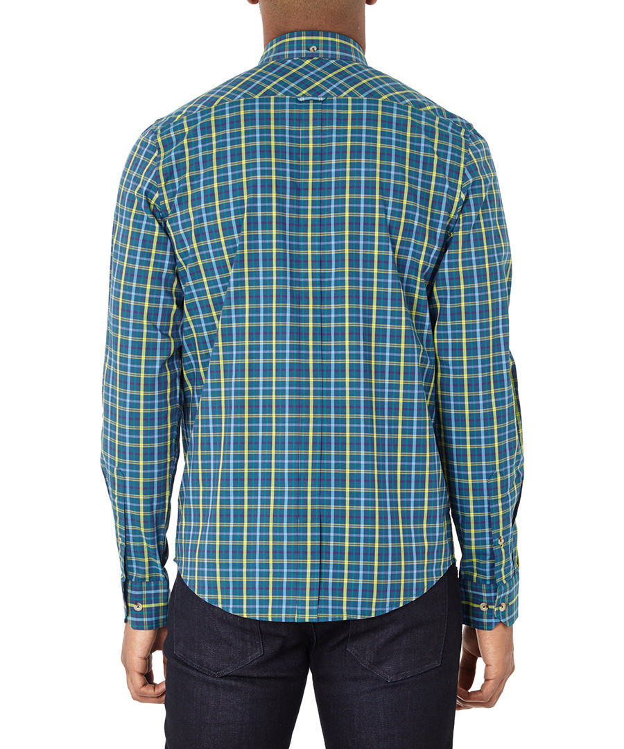 ben sherman green checked pure cotton shirt designer topwear sale back to work wardrobe. Black Bedroom Furniture Sets. Home Design Ideas