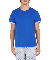 Blue andamp; grey cotton T shirt