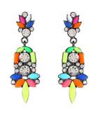 Holi multi-coloured drop earrings