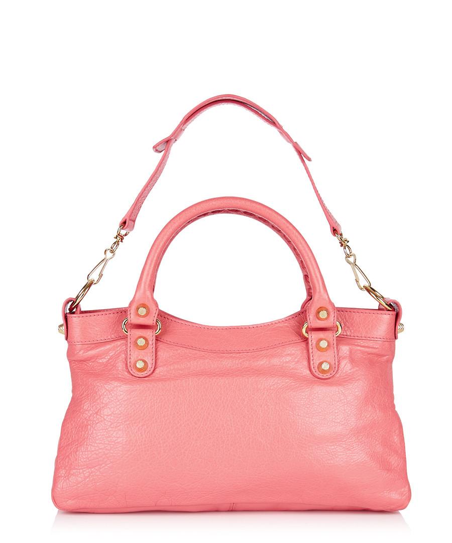 balenciaga salmon leather mini grab bag designer bags sale balenciaga handbags secretsales. Black Bedroom Furniture Sets. Home Design Ideas