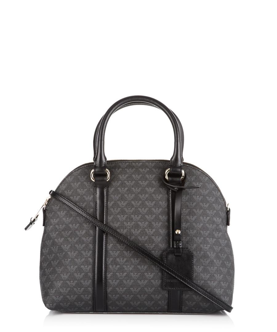Emporio Armani Bugatti black & grey grab bag, Designer ...