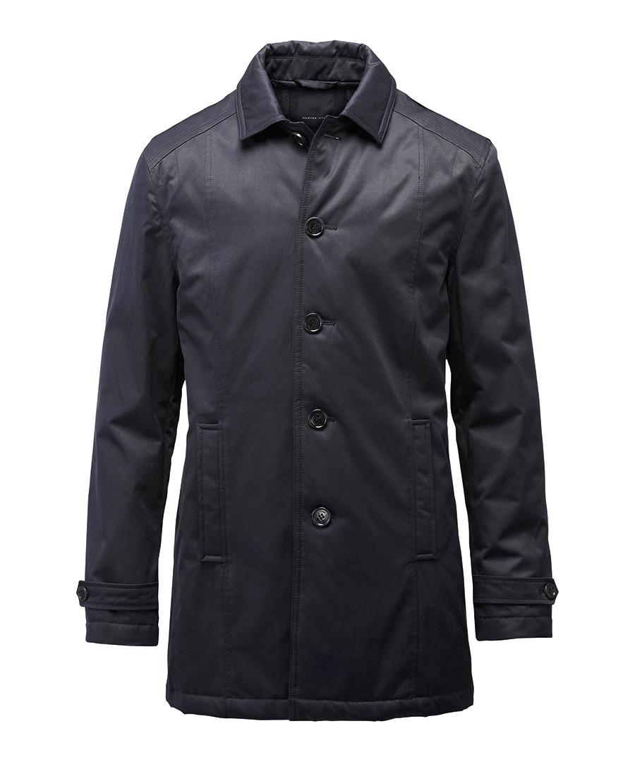 selected homme tribeca black cotton blend trench coat. Black Bedroom Furniture Sets. Home Design Ideas