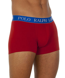 Bordeaux cotton blend boxer trunks