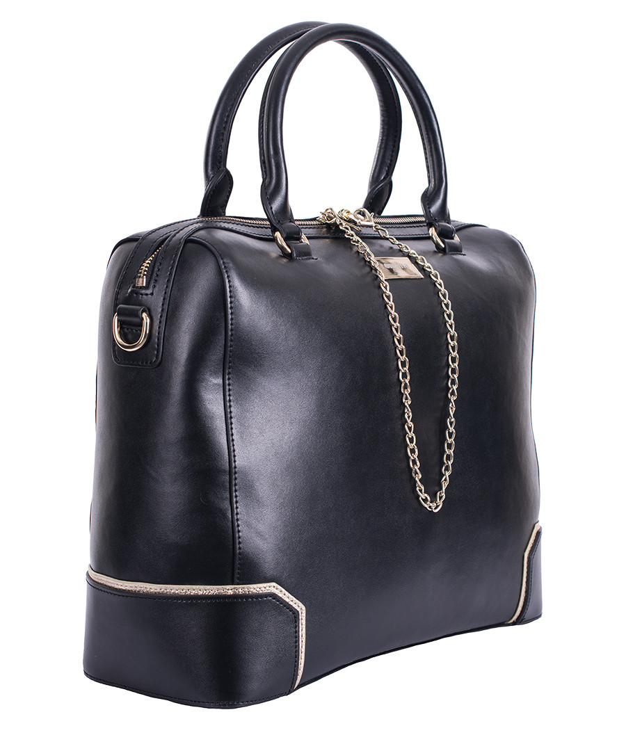 New Embossed Faux Leather Structured Handbag with Removable Strap 46